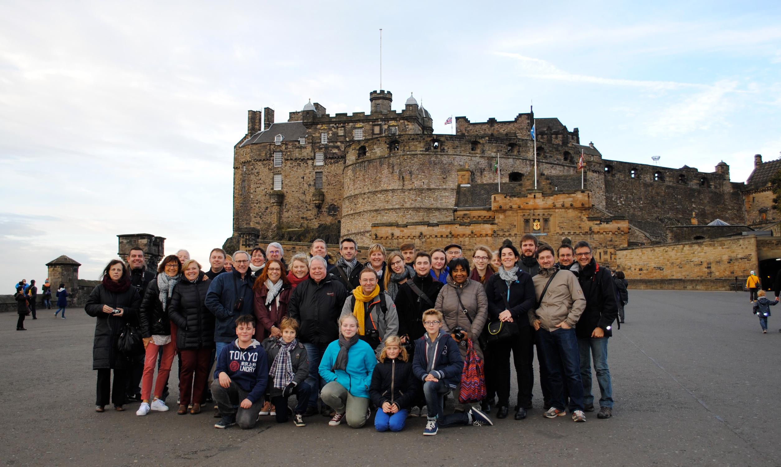 Le JEH, Jeune Ensemble Harmonique de Villeneuve d'Ascq en tournée en Écosse